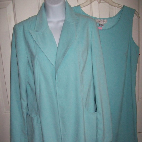 Blue Dress And Jacket Set Size 10